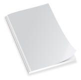 Couverture de magazine blanc Photographie stock