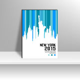 Couverture de magazine de New York Images stock