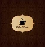 Couverture de menu de café Photographie stock