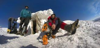 Couverture de neige et de glace Photo libre de droits