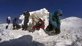 Couverture de neige et de glace Image libre de droits