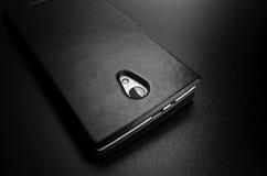 Couverture de noir de Smartphone Photos stock