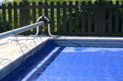 Couverture de piscine Photo libre de droits