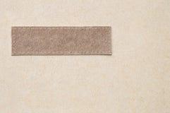 Couverture de plan rapproché de fond brun de texture de carnet Photos libres de droits
