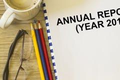 Couverture de rapport annuel  photo libre de droits