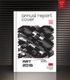 Couverture de rapport annuel  Cache créateur illustration de vecteur