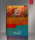 Couverture de rapport annuel pour la société ambiante, l'énergie, et illustration de vecteur