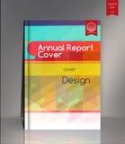 Couverture de rapport annuel pour la société ambiante, l'énergie, et illustration libre de droits