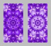 Couverture de téléphone portable de retour avec le beau modèle dans la conception de fractale Images stock