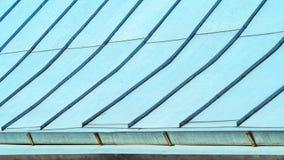 Couverture de toit de couture d'acier galvanisé photographie stock libre de droits