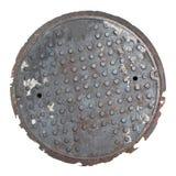 Couverture de trou d'homme d'isolement Image stock