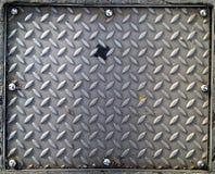 Couverture de trou d'homme en acier de crêpe Photos libres de droits