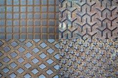 Couverture de trou d'homme en métal Image stock