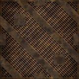 Couverture de trou d'homme rouillée (texture sans couture) Image stock