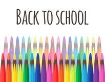 Couverture de vecteur avec les crayons colorés Images libres de droits