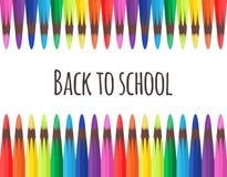 Couverture de vecteur avec les crayons colorés Images stock