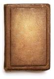 Couverture de vieux livre, conception grunge vide de texture vide sur le blanc Photographie stock libre de droits