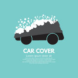 Couverture de voiture avec la neige Photos stock
