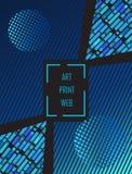 Couverture dynamique de brochure d'Art Print Web de bruit Photo stock