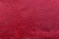 Couverture en cuir rouge Photographie stock libre de droits