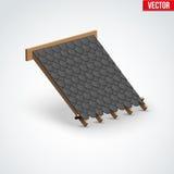 Couverture en métal d'icône sur le toit Image libre de droits