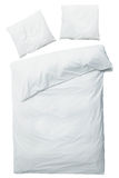 Couverture et oreillers blancs Photo stock