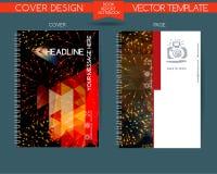 Couverture et page du rapport annuel  illustration stock