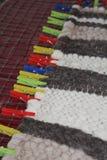 Couverture faite main de laine images libres de droits