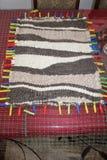 Couverture faite main de laine photographie stock libre de droits