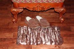 Couverture faite main de laine images stock