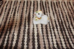 Couverture faite main de laine photographie stock