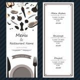 Couverture fraîche de backgroud de calibre d'ingrédients de menu de bifteck de restaurant Photographie stock