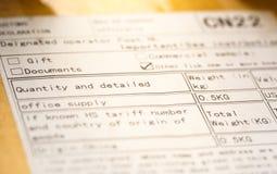 Couverture internationale de colis d'enveloppe de courrier images libres de droits