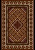 Couverture luxueuse de vintage aux nuances brunes avec le modèle original Photo stock