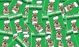 Couverture magazine de Charlie Hebdo du 14 janvier après l'attaque de terrorisme, le 7 janvier 2015 à Paris Photographie stock libre de droits