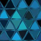 Couverture moderne de gradient dans des couleurs bleues bleues et profondes Rétro fond de carte dans la mosaïque continue de tria illustration libre de droits