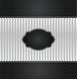 Couverture noire et argentée d'invitation de cru Photos stock