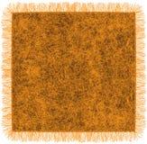 Couverture orange de laine avec la frange Photo stock