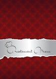 Couverture rouge abstraite de menu de restaurant Photo libre de droits