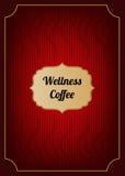 Couverture rouge de menu de café Photo libre de droits