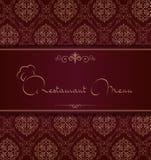 Couverture royale de menu de restaurant Images libres de droits