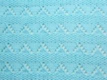Couverture tricotée par turquoise Photo stock