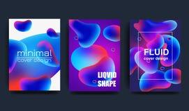 Couvertures avec la conception minimale illustration onduleuse de la forme 3d Fond abstrait coloré Élément créateur de conception illustration de vecteur