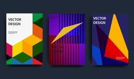 Couvertures avec la conception minimale illustration onduleuse de la forme 3d Fond abstrait coloré Élément créateur de conception illustration stock