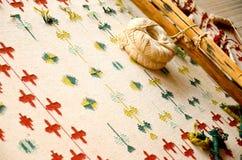 Couvertures de Bishnoi et tapis, Inde Image libre de droits