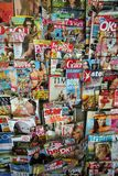 COUVERTURES DE MAGAZINE D'IMPRESSION Photo libre de droits