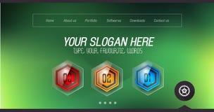 Couvertures de page Web de démarrage d'atterrissage ou de conception d'entreprise à employer pour des promotons de Web illustration libre de droits