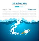 Couvertures de page Web de démarrage d'atterrissage ou de conception d'entreprise à employer pour le Web illustration de vecteur