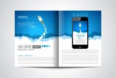 Couvertures de page Web de démarrage d'atterrissage ou de conception d'entreprise illustration stock