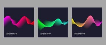 Couvertures de vecteur avec la conception dynamique abstraite Image libre de droits